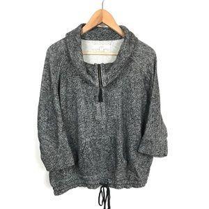 Ann Taylor LOFT Medium Gray Loose SS Sweater